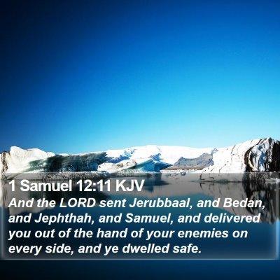 1 Samuel 12:11 KJV Bible Verse Image