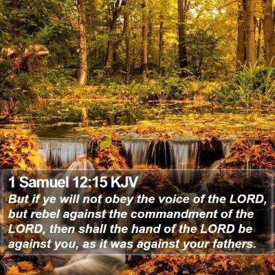 1 Samuel 12:15 KJV Bible Verse Image