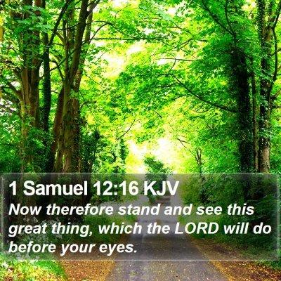 1 Samuel 12:16 KJV Bible Verse Image