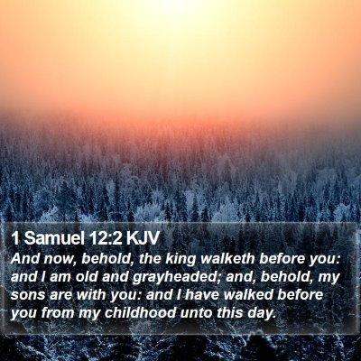 1 Samuel 12:2 KJV Bible Verse Image