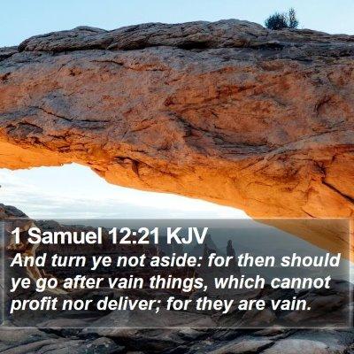 1 Samuel 12:21 KJV Bible Verse Image
