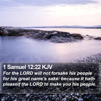 1 Samuel 12:22 KJV Bible Verse Image