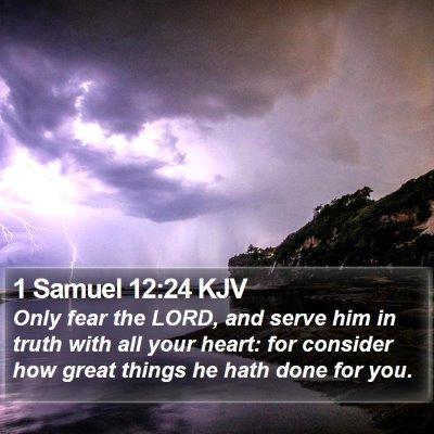 1 Samuel 12:24 KJV Bible Verse Image