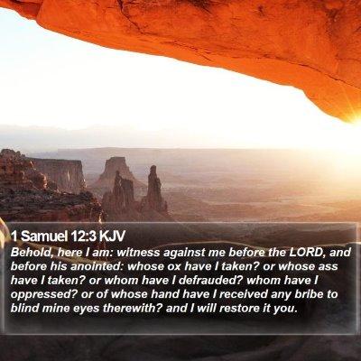 1 Samuel 12:3 KJV Bible Verse Image