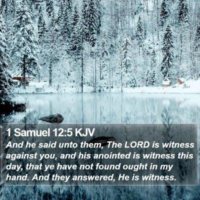 1 Samuel 12:5 KJV Bible Verse Image