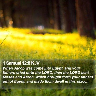 1 Samuel 12:8 KJV Bible Verse Image