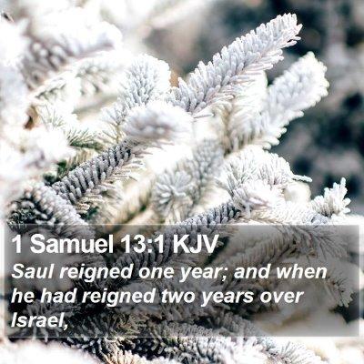 1 Samuel 13:1 KJV Bible Verse Image