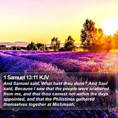1 Samuel 13:11 KJV Bible Verse Image
