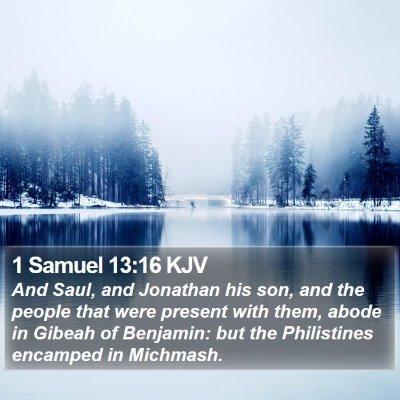 1 Samuel 13:16 KJV Bible Verse Image