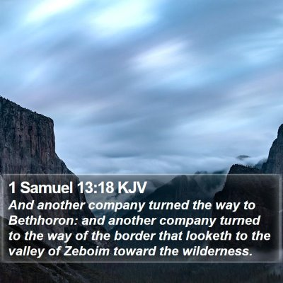 1 Samuel 13:18 KJV Bible Verse Image