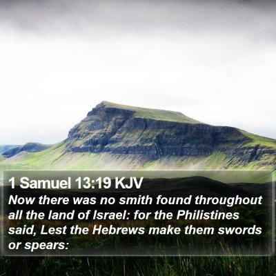 1 Samuel 13:19 KJV Bible Verse Image