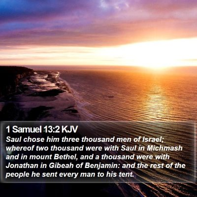 1 Samuel 13:2 KJV Bible Verse Image
