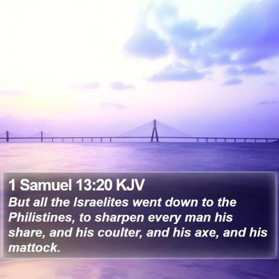 1 Samuel 13:20 KJV Bible Verse Image