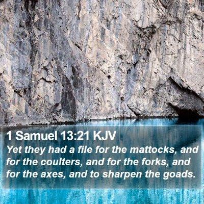 1 Samuel 13:21 KJV Bible Verse Image