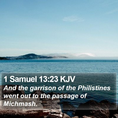 1 Samuel 13:23 KJV Bible Verse Image