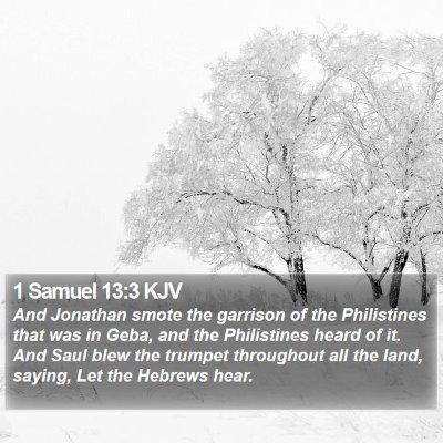 1 Samuel 13:3 KJV Bible Verse Image