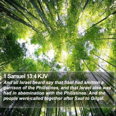 1 Samuel 13:4 KJV Bible Verse Image