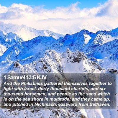 1 Samuel 13:5 KJV Bible Verse Image