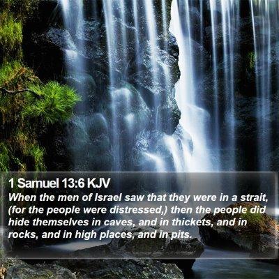 1 Samuel 13:6 KJV Bible Verse Image