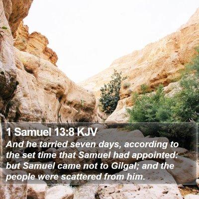 1 Samuel 13:8 KJV Bible Verse Image