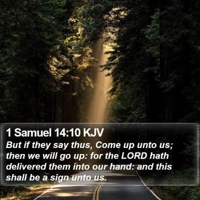 1 Samuel 14:10 KJV Bible Verse Image