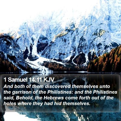 1 Samuel 14:11 KJV Bible Verse Image
