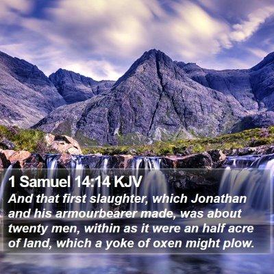 1 Samuel 14:14 KJV Bible Verse Image