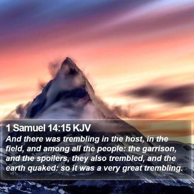 1 Samuel 14:15 KJV Bible Verse Image