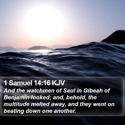 1 Samuel 14:16 KJV Bible Verse Image