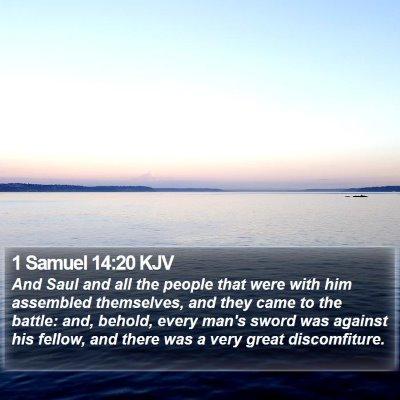 1 Samuel 14:20 KJV Bible Verse Image