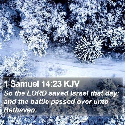 1 Samuel 14:23 KJV Bible Verse Image