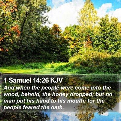 1 Samuel 14:26 KJV Bible Verse Image