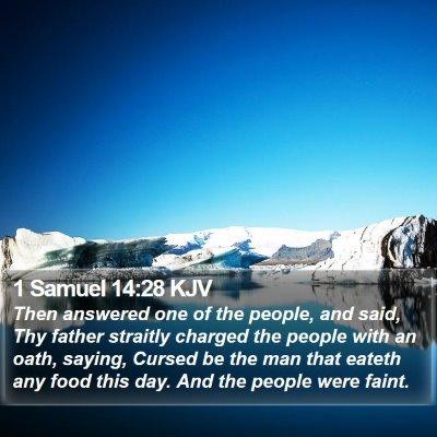 1 Samuel 14:28 KJV Bible Verse Image