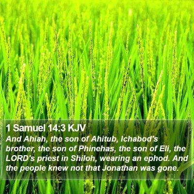 1 Samuel 14:3 KJV Bible Verse Image
