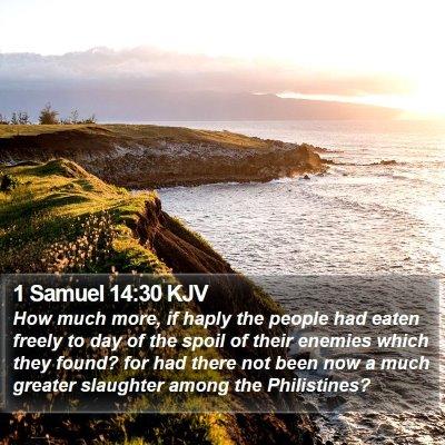 1 Samuel 14:30 KJV Bible Verse Image