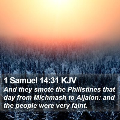 1 Samuel 14:31 KJV Bible Verse Image