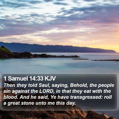 1 Samuel 14:33 KJV Bible Verse Image