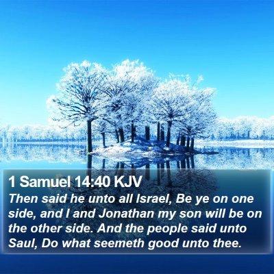 1 Samuel 14:40 KJV Bible Verse Image