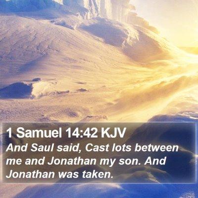 1 Samuel 14:42 KJV Bible Verse Image