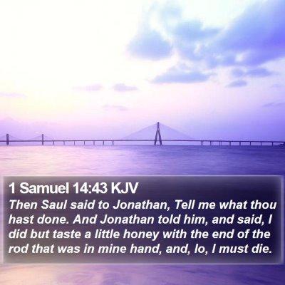 1 Samuel 14:43 KJV Bible Verse Image