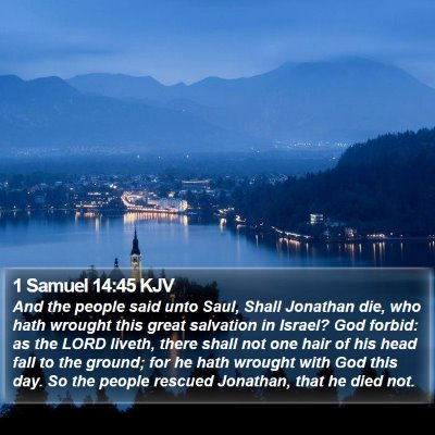 1 Samuel 14:45 KJV Bible Verse Image