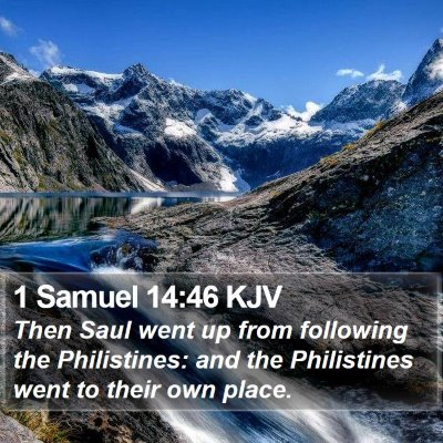1 Samuel 14:46 KJV Bible Verse Image