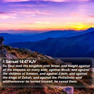 1 Samuel 14:47 KJV Bible Verse Image