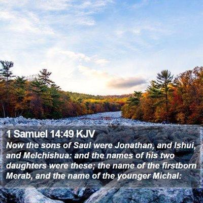 1 Samuel 14:49 KJV Bible Verse Image