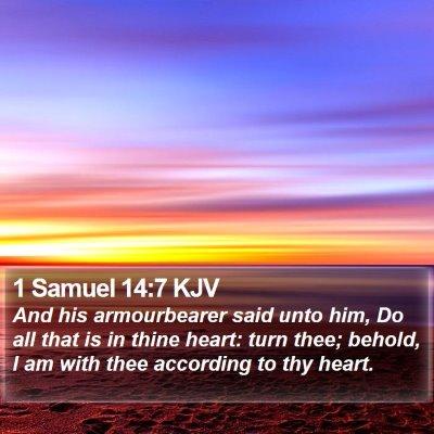 1 Samuel 14:7 KJV Bible Verse Image