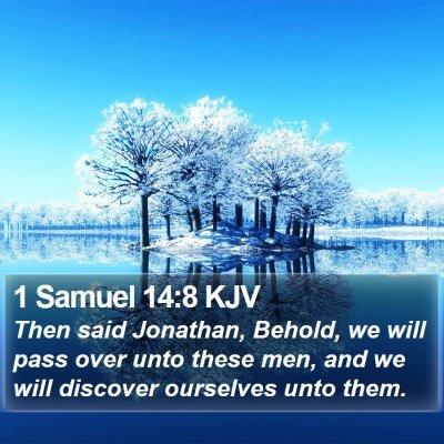 1 Samuel 14:8 KJV Bible Verse Image