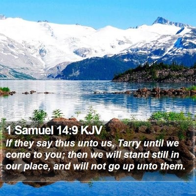1 Samuel 14:9 KJV Bible Verse Image