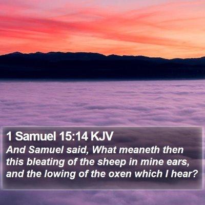 1 Samuel 15:14 KJV Bible Verse Image