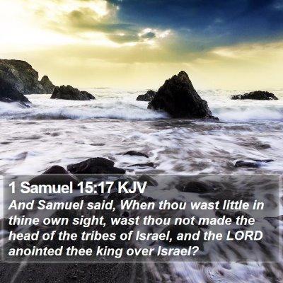 1 Samuel 15:17 KJV Bible Verse Image