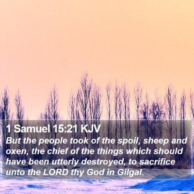 1 Samuel 15:21 KJV Bible Verse Image